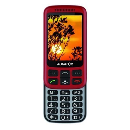 ALIGATOR VS 900 Senior červeno-strieborný + stolná nabíjačka AVS900RS