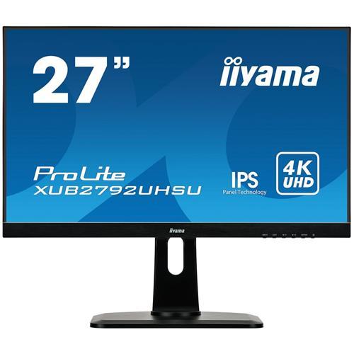 Monitor iiyama XUB2792UHSU-B1, 27'', IPS, 4K UHD, 300cd/m2, 4ms, DVI, HDMI, DP, USB, výšk. nastav., pivot, čierny