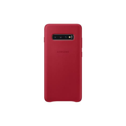 Samsung Leather Cover S10+ Red EF-VG975LREGWW