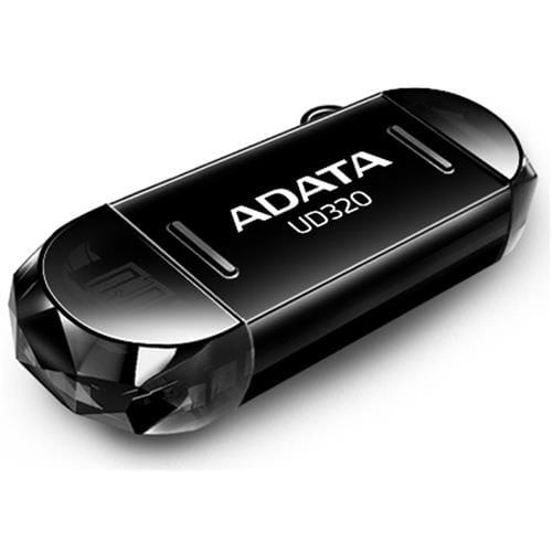 USB Kľúč 64GB ADATA UC320, OTG, čierny (USB 2.0) AUD320-64G-RBK