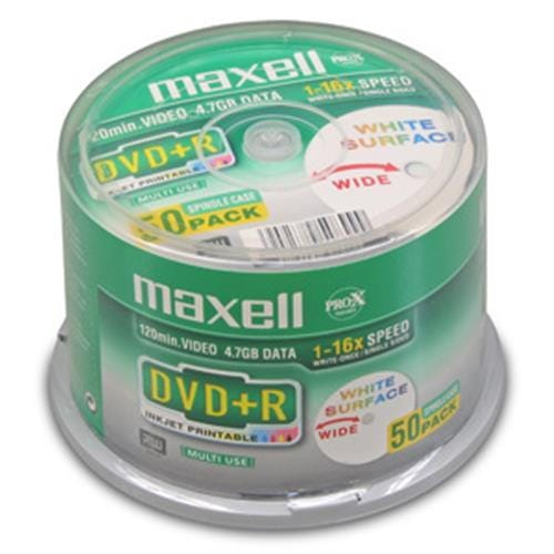 DVD+R MAXELL Printable 4,7GB 16X 50ks/cake 275702.30.TW