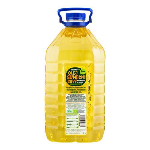 Olej slnečnicový dezodorizovaný na smaženie a pečenie 5 l BIO COUNTRY LIFE 430001
