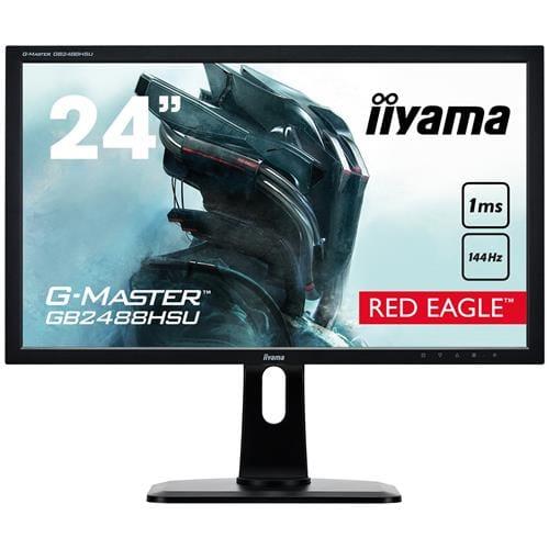 Monitor iiyama GB2488HSU-B2, 24'', LCD, 1ms, 144 Hz, 350cd/m2, FreeSync, DP, 2xHDMI, DVI, USB, repro, pivot, výšk.nastav.