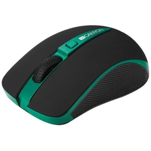 Myš Canyon CNS-CMSW6G, Wireless, optická, USB, 1000/1600 dpi, Power Saving, zeleno-čierna
