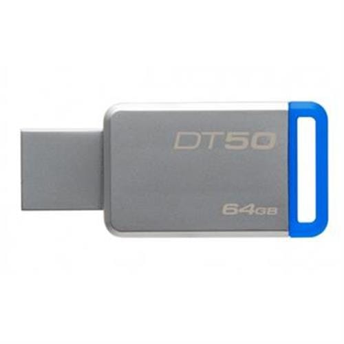 USB Kľúč 64GB Kingston USB 3.0 DT50 kovová modrá DT50/64GB