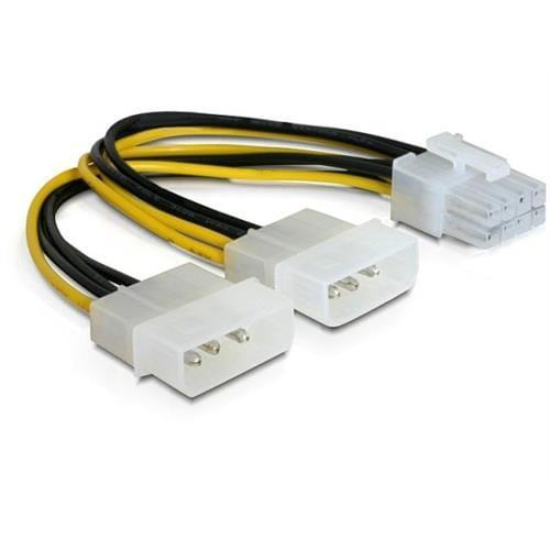 "Power Adapter pre PCI Express karty z 2x 5,25"" na 8-pin 82397"
