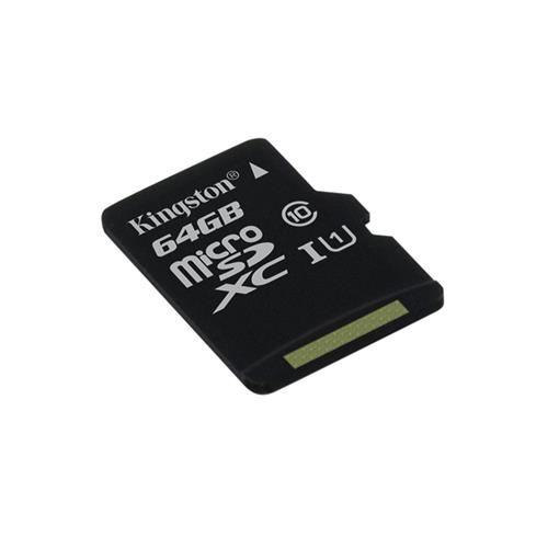 Kingston 64GB microSDXC Class 10 UHS-I (r80MB/s, w10MB/s) bez adaptéra SDCS/64GBSP