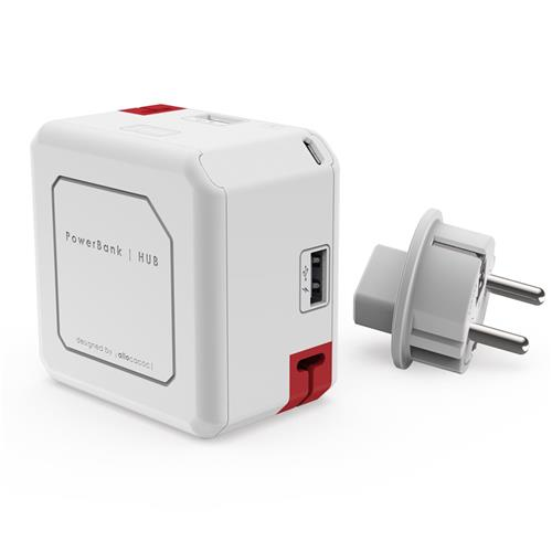 Zásuvka PowerCube PowerUSB Portable 5000mAh, White 435796