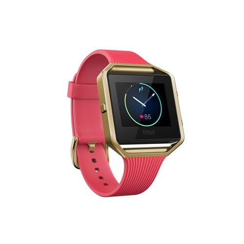 Fitbit Blaze, Tapered Pink, Gold, Small