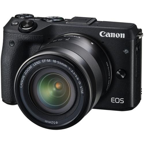 Canon EOS M3 Black + EFM 18-55mm , 24 MP, DIGIC 6