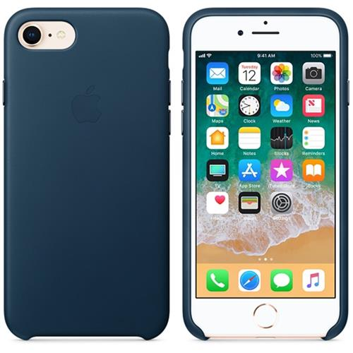 Apple iPhone 8 / 7 Leather Case - Cosmos Blue MQHF2ZM/A