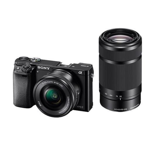 Sony A6000Y, 16-50+55-210mm, 24,3Mpix, čierna ILCE6000YB.CEC