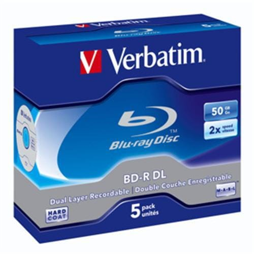 VERBATIM BD-R DL(5-Pack)Jewel/6x/50GB 43748