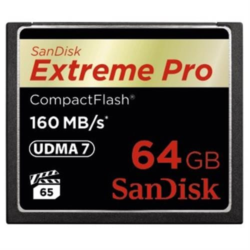 SanDisk 64GB CompactFlash Extreme Pro (160MB/s, VPG65, UDMA7) 123844