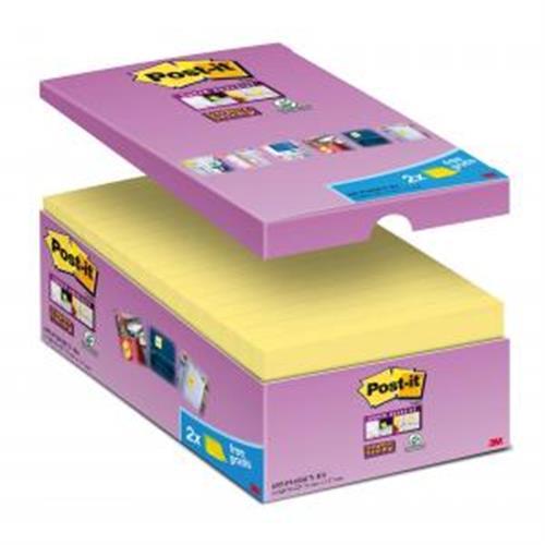 Bločky Post-it Super Sticky žlté 76x127mm 16x90l MM655016