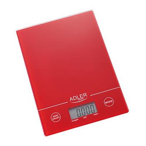 ADLER AD 3138 R, Kuchynská váha červená