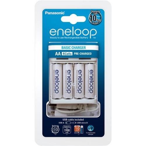 Panasonic BQ-CC61 USB-in Charger nabíjačka + Eneloop R6/AA 1900mAh, 4 ks K-KJ61MCC40USB