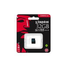 Kingston 32GB microSDXC Canvas GO (90R/45W U3 UHS-I V30 Card bez SD Adaptéra)