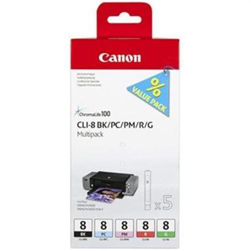 Kazeta CANON CLI-8 BK/PC/PM/R/G PACK Pixma Pro9000 0620B027