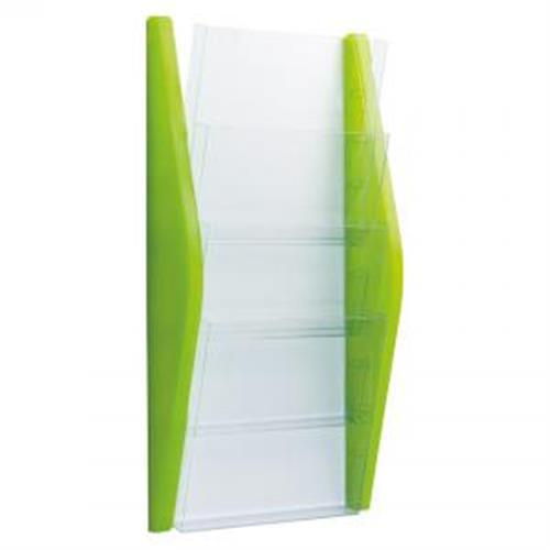Prezentačný stojan Helit 4xA4 zelený HE627015