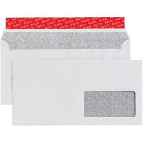 Poštové obálky C6/5 ELCO s páskou, okienko vpravo, 500 ks OB066532