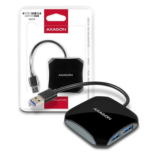 AXAGON 4x USB3.0 QUATTRO hub, 16cm kábel HUE-S1B