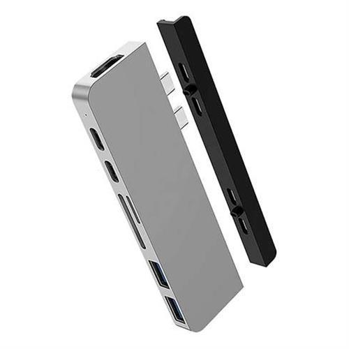 Hyper USB-C Hub HyperDrive Duo 7-in-2 - Silver HY-HD28C-SILVER