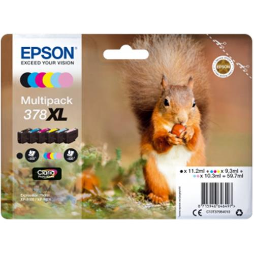 Epson Multipack 6-colours 378 XL Claria C13T37984010