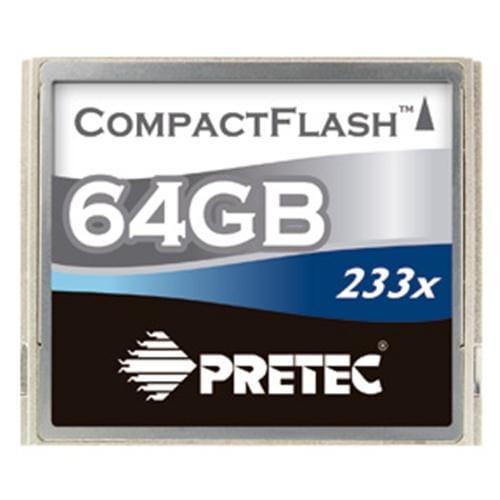 Pretec 64GB CompactFlash 233x, typ II PCCF64G