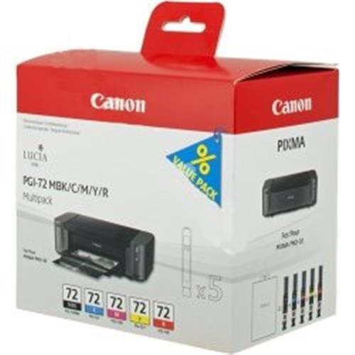 Kazeta CANON PGI-72 MBK/C/M/Y/R PACK PIXMA Pro 10 6402B009