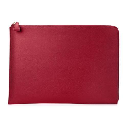 """HP Spectre 13.3"""" Split Leather Sleeve - Red 2HW35AA#ABB"""
