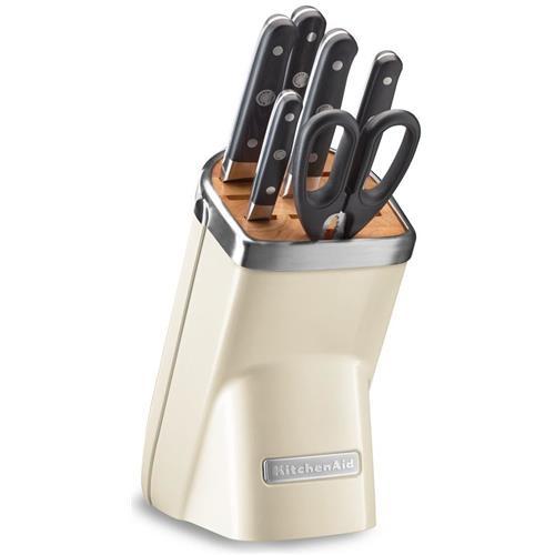 KitchenAid Sada nožov s blokom 7ks, mandlová KKFMA07AC
