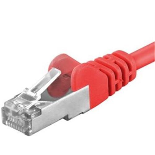 Premiumcord Patch kábel CAT6a S-FTP, RJ45-RJ45, AWG 26/7 1,5m, červený sp6asftp015R
