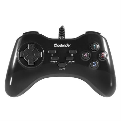 Gamepad Defender Game Master G2, 13tl., USB, čierny, turbo režim, Windows 2000/XP/Vista/7/8/10 64258