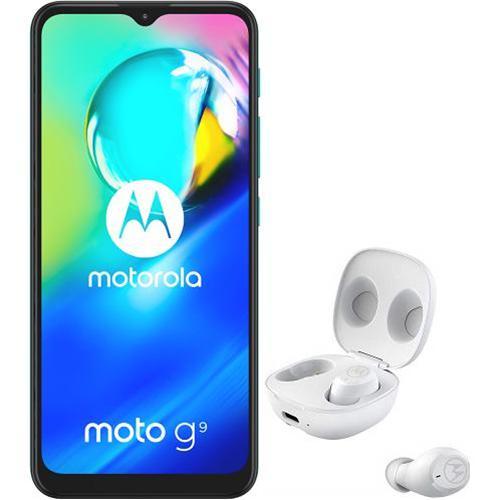 MOTOROLA Moto G9 Play + Moto Buds, 4/64, Green PAKK0028RO