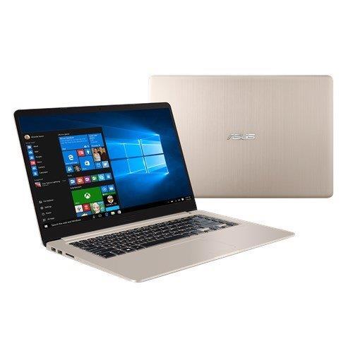 """ASUS VivoBook S510UN-BQ070T Intel i5-8250U 15.6"""" FHD matny MX150-2GB 8GB 1TB+128GB SSD WL Cam FPR Win10 CS zlatý"""