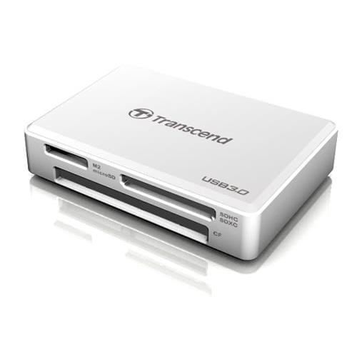 Čítačka kariet Transcend USB 3.0, biela - CF, Memory Stick (MS), MS Micro (M2), SDHC, SDXC, microSDH TS-RDF8W