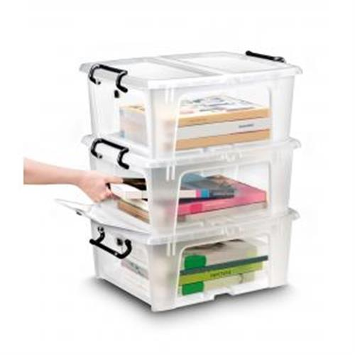 Plastový box s otváraním spredu 20l CP950110