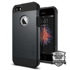 Spigen kryt Tough Armor pre iPhone SE - Metal Slate
