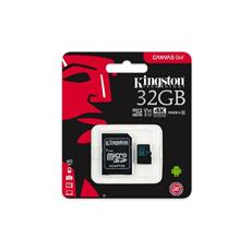 Kingston 32GB microSDXC Canvas GO (90R/45W U3 UHS-I V30 Card + SD Adaptér)