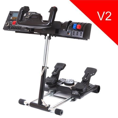 Wheel Stand Pro DELUXE V2, stojan na joystick a pedále Saitek Pro Rudder, Pro Flight Yoke System