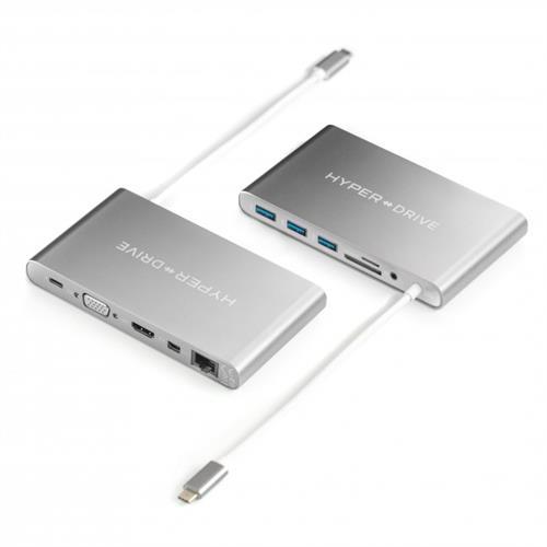 HyperDrive Ultimate USB-C Hub - strieborný HY-GN30B-SILVER