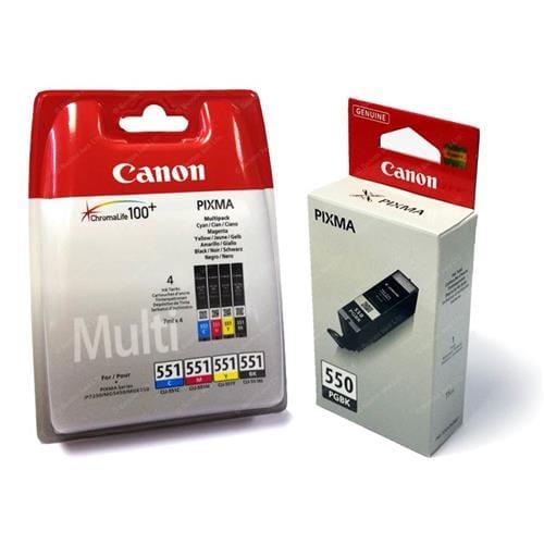 Kazeta CANON PGI-550 + CLI-551 C/M/Y/BK/GY Multi pack 6496B005