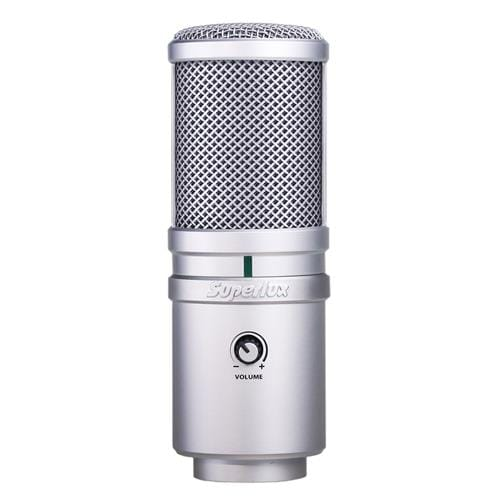 Mikrofón Superlux E205U štúdiový, kondenzátorový - USB, 30Hz-18.000Hz, kábel 3m, držiak + puzdro