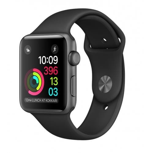 Apple Watch Series 1, 42mm Space Grey Aluminium Case with Black Sport Band