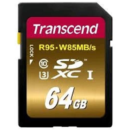 Transcend 64GB SDXC UHS-I U3 (R95, W60 MB/s) TS64GSDU3