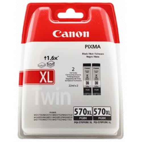 Kazeta CANON PGI-570PGBK XL black TWIN MG 5750/5751/6850/6851/7750/7751 (2ks)