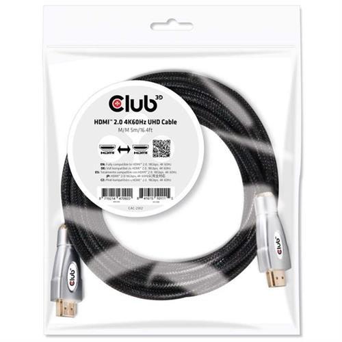 Club3D HDMI 2.0 4K 60Hz UHD M/M kábel 5 m CAC-2312