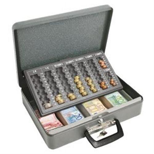 Euro-pokladnička WEDO Universa eco 370x100x280mm sivá WE100812