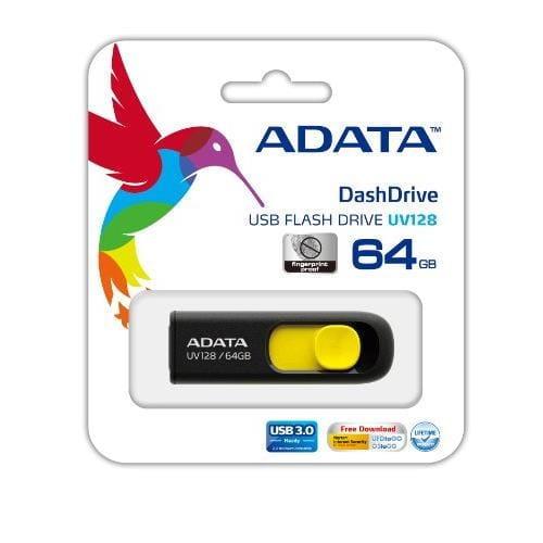 USB Kľúč 64GB ADATA UV128, žltý (USB 3.0) AUV128-64G-RBY
